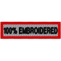 100% EMBROIDERED NAME PATCH