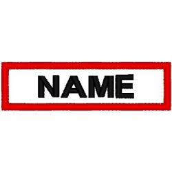NAME PATCH SQUARE CORNER