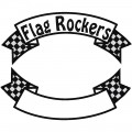 CHECKERED FLAG  ROCKER