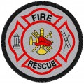 FIRE AND RESCUE PATCH REFLECTIVE