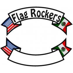 USA & MEXICO BANNER ROCKER