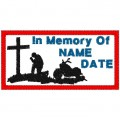 PRAYING BIKER MEMORY PATCH