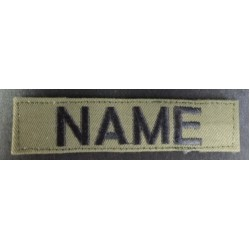MILITARY STYLE NAME WITH OR WITH OUT VELCRO
